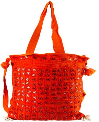 Little India Women Casual Orange Cotton Sling Bag