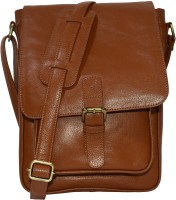 Pellezzari Boys & Girls Tan Genuine Leather Sling Bag