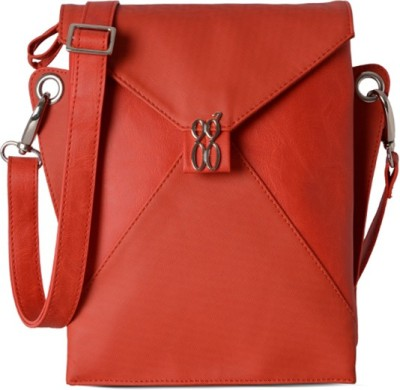 Baggit Women Evening/Party Red Rexine Sling Bag