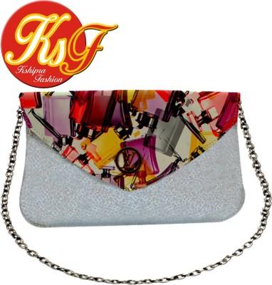 Kshipra Fashion Girls, Women Silver Leatherette Sling Bag