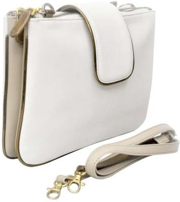 Zaera Women Casual White PU Sling Bag
