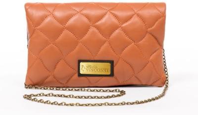 Sophia Visconti Girls Casual Tan Genuine Leather Sling Bag