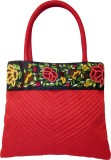 Indha Craft Women Red Polyester Hand-hel...