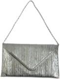 Rajam Women Silver Rexine Sling Bag