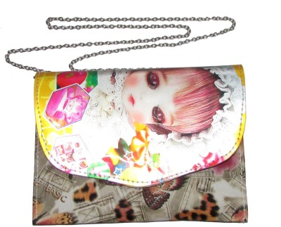 Adara Collections Girls Multicolor Rexine Sling Bag