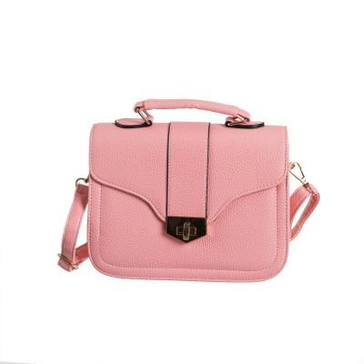 Peaubella Girls, Women Pink Leatherette Sling Bag