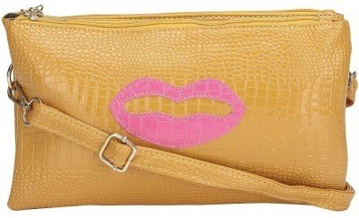 Amigo Women, Girls Yellow PU Sling Bag