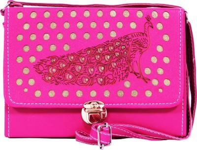 zasmina Girls Pink Leatherette Sling Bag