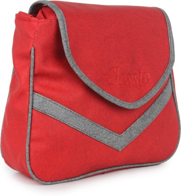 Star Style Women Casual Red Leatherette Sling Bag