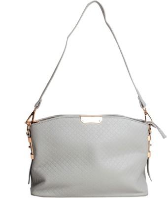 Reedra Women Grey PU Sling Bag
