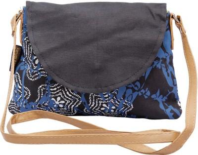 Kanvas Katha Women, Girls Casual Black Cotton Sling Bag