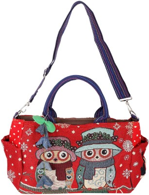 Obvio Women Red Denim Sling Bag
