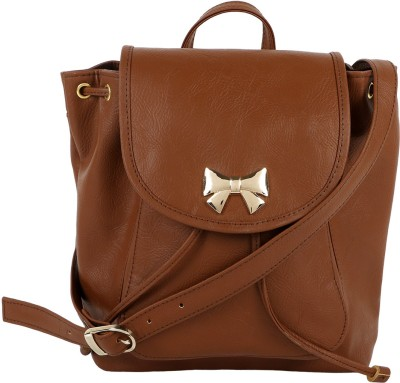 Berrypeckers Women Casual Brown PU Sling Bag