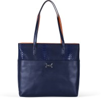 Zaera Women Blue PU Messenger Bag