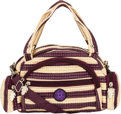 Glitters Girls Casual, Formal Purple, White Rexine Sling Bag