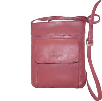 Imperus Girls, Women Maroon Genuine Leather Sling Bag