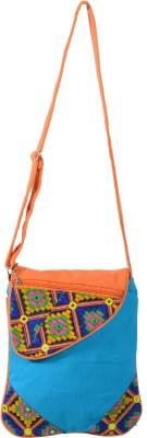 Jsart Girls Blue Canvas Sling Bag