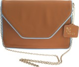 Rivet Women Tan PU Sling Bag