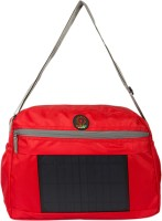 SUNLAST Men Red Nylon Sling Bag
