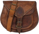 Arya Women Brown Genuine Leather Sling B...