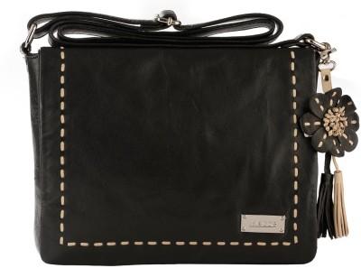 Klasse Women Casual Black Genuine Leather Sling Bag