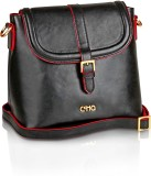 Ccha Women Black PU Sling Bag
