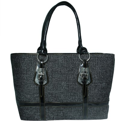 Heels And Toes Women Black Jute Shoulder Bag