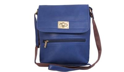Alishaan Girls Blue Genuine Leather Sling Bag