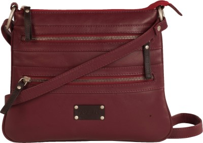 WeMe Women Red Genuine Leather Sling Bag