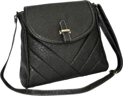 Minar Girls Black PU Sling Bag