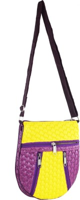 Mpkart Girls, Women Casual Purple, Yellow Leatherette Sling Bag
