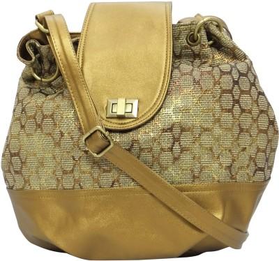 Stylocus Women Casual Gold Jute Sling Bag