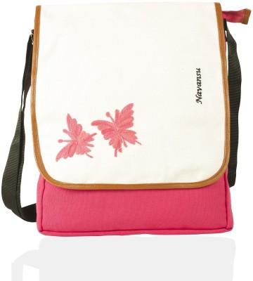 NAVANSU Girls Pink, Multicolor Canvas Messenger Bag