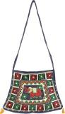 Rajrang Women Blue Cotton Sling Bag