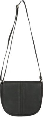 Etiquette Women Black Nylon Sling Bag