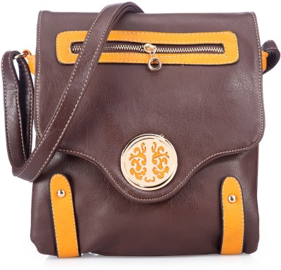 Bags Craze Women Casual Brown PU Sling Bag