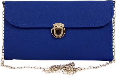Hydes Girls, Women Blue Leatherette Sling Bag