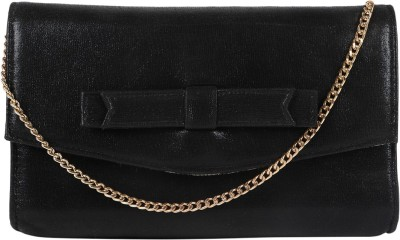 Berrypeckers Women Evening/Party Black PU Sling Bag