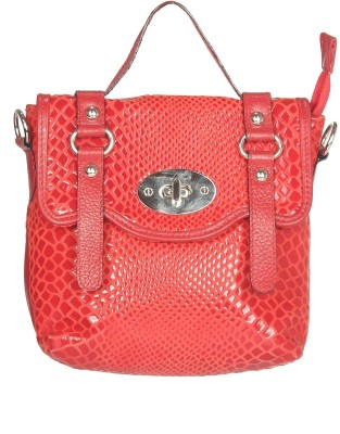 Chanter Women Casual Red Genuine Leather Sling Bag
