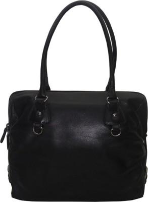 Shankar Produce Women Black Genuine Leather Shoulder Bag