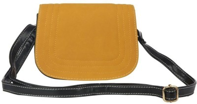 Just Women Women Casual Yellow Leatherette Sling Bag