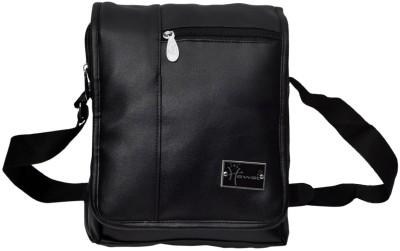 Hawai Men Casual Black PU Sling Bag