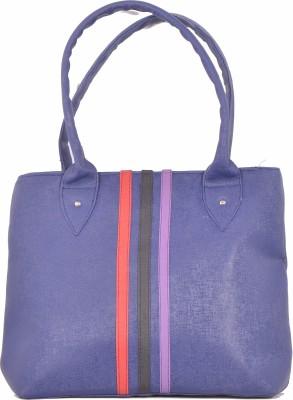 SK-Effects7 Women Blue Leatherette Hand-held Bag