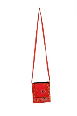 Indiana Girls, Women Casual Red Cotton Sling Bag