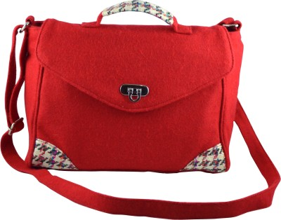 Lost & Found Women Red Felt Messenger Bag