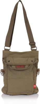 Suntop Men Green Cotton, Canvas Sling Bag