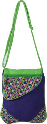 Jsart Girls Purple Canvas Sling Bag