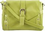 Peacock Women Green PU Sling Bag