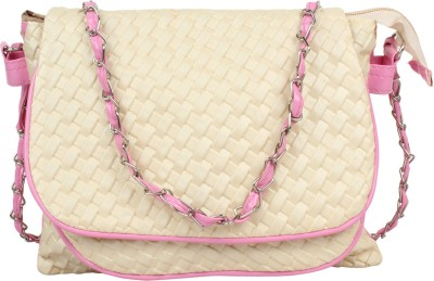 Cottage Accessories Women White PU Sling Bag
