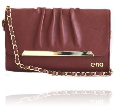 Ccha Girls Maroon PU Sling Bag